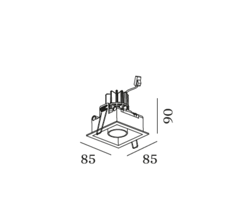 Sneak trim 1 0 studio wever ducre spot encastrable recessed light  wever et ducre 155351b5  design signed nedgis 83787 product