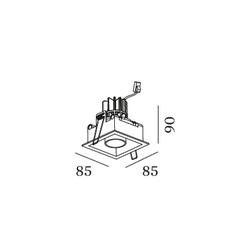 Sneak trim 1 0 studio wever ducre spot encastrable recessed light  wever et ducre 155351b5  design signed nedgis 83787 thumb