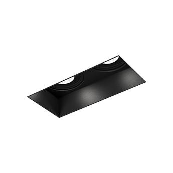 Spot encastrable strange 2 0 led noir led 3000k 2x550 740lm l7cm h9cm wever ducre normal