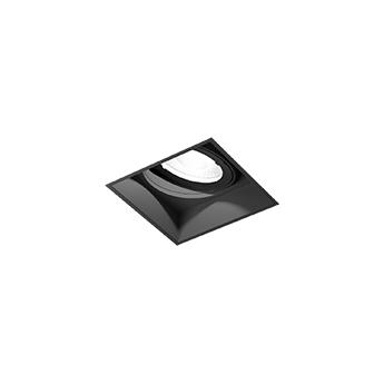 Spot encastrable strange petit 1 0 led noir led 3000k 570lm l5 1cm h6cm wever ducre normal