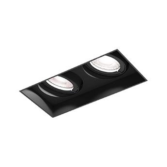 Spot encastrable strange petit 2 0 led noir led 3000k 2x570lm l10 2cm h6cm wever ducre normal