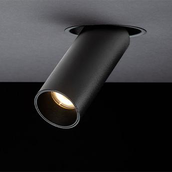 Spot encastrable tektus 45 recessed noir 51 dali bridgelux led 2700k 1100lm o4 5cm h11 3cm doxis normal