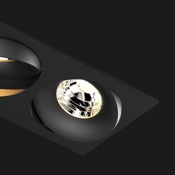 Spot encastrable titan double rectangle organic noir l17 2cm h7 5cm 2700k 40 937lm doxis normal