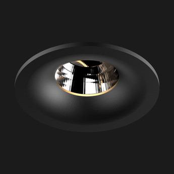 Spot encastrable titan fix round noir led 2700 k 937 lm dali o8 5cm h6 8cm doxis normal