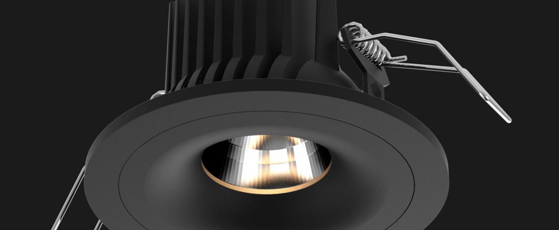 Spot encastrable titan fix round noir led 2700 k 937 lm o8 5cm h6 8cm doxis normal