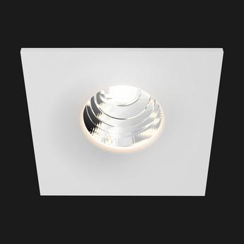 Spot encastrable titan fix square led 3000k 950lm blanc l8 5cm doxis normal