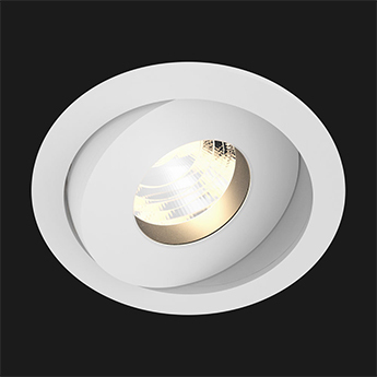 Spot encastrable titan mix round anti glare 28 dali boobytrap blanc led 2700k 937lm o9 2cm h6 5cm doxis normal