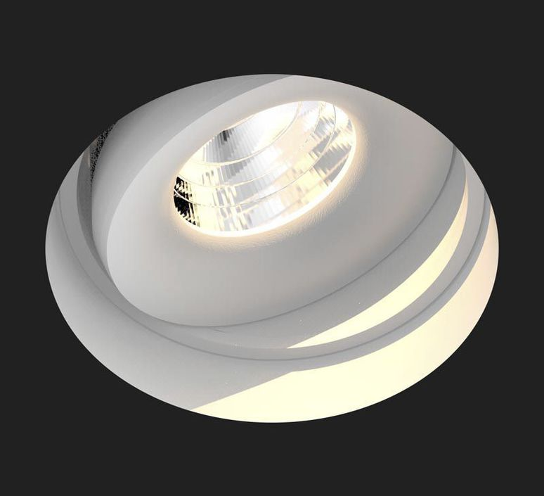 recessed light titan trimless deep white Ø8 4cm h8 2cm 2700k