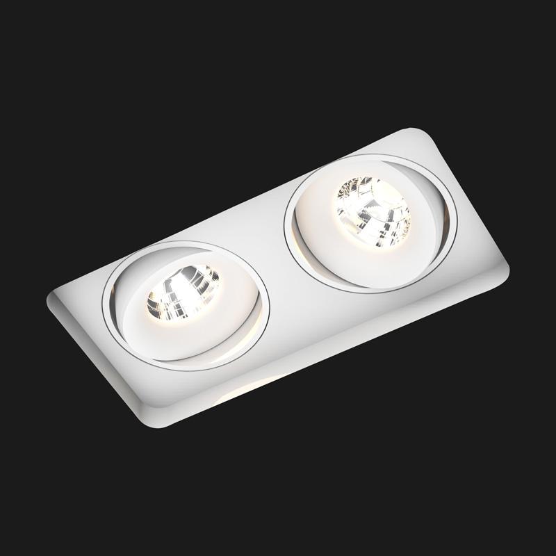 spot encastrable titan trimless double square blanc l30cm l28cm 2700k 40 910lm doxis. Black Bedroom Furniture Sets. Home Design Ideas