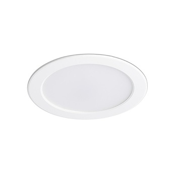 Spot encastrable tod blanc led 3000k 2400lm ip44 o22cm h3cm faro normal