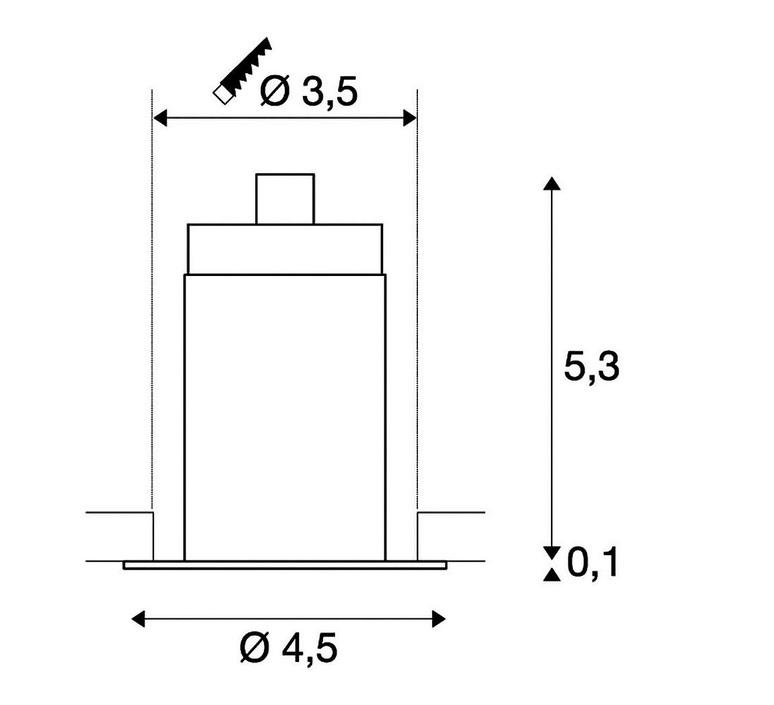 Triton mini slv spot encastrable recessed light  slv 1000914  design signed 58889 product