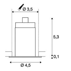 Triton mini slv spot encastrable recessed light  slv 1000914  design signed 58889 thumb