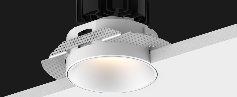 Spot focus trimless blanc led 2700k 1289lm o8 5cm h9cm doxis normal