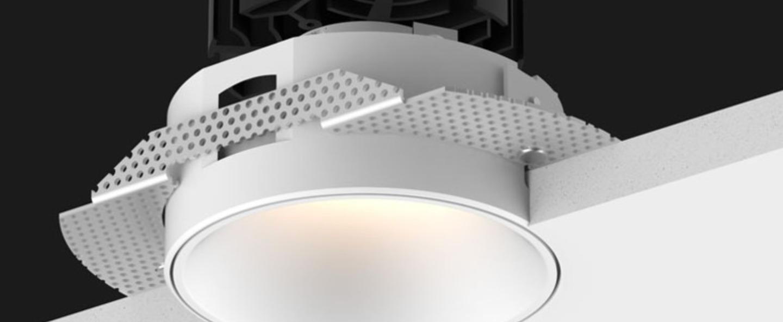 Spot focus trimless blanc led mains dim 24 2700k 1289lm o8 5cm h9cm doxis normal