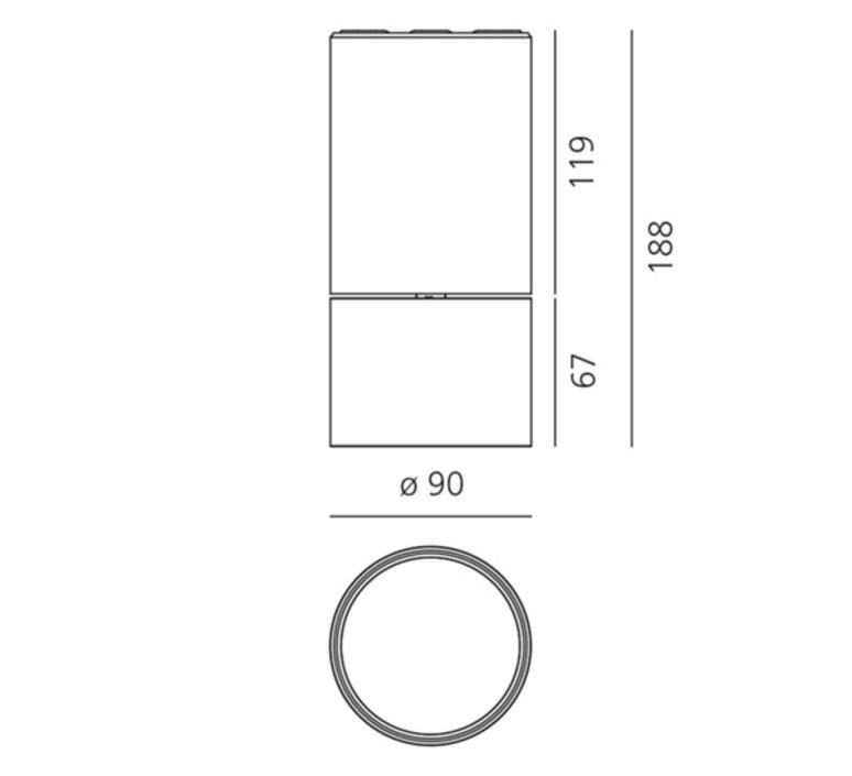 Lesbo quaglio simonelli spot spot light  artemide 0054010a  design signed nedgis 127496 product
