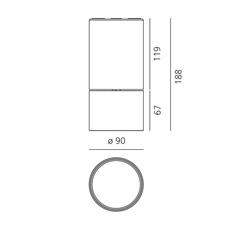 Lesbo quaglio simonelli spot spot light  artemide 0054010a  design signed nedgis 127496 thumb