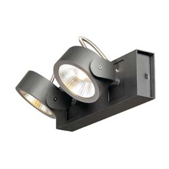 Spot kalu noir led o10cm h16 5cm slv normal