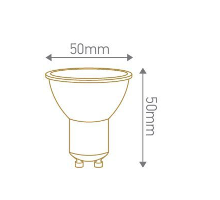 Spot led 5w gu10 2700k 400lm 100 dimmable girard sudron 67136 product
