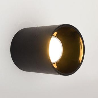 Spot led en saillie noir o9cm h11cm zangra normal