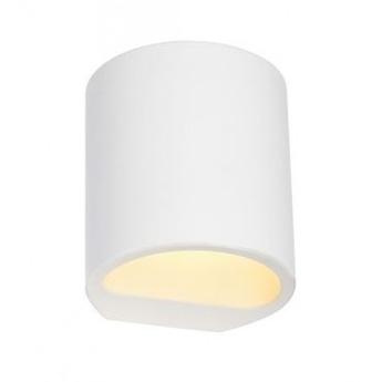 Spot ou plafonnier plastra 104 blanc o11cm h12cm slv normal