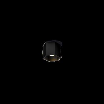 Spot plafonnier hexo noir gu10 h10cm o12 7cm wever ducre normal