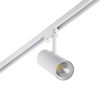 Spot projecteur rail fuga small led blanc orientable o8 5cm h23 5cm faro normal