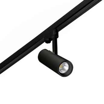 Spot projecteur rail fuga small led dimmable triac noir orientable 2700k 1050lm o7cm h21cm faro normal