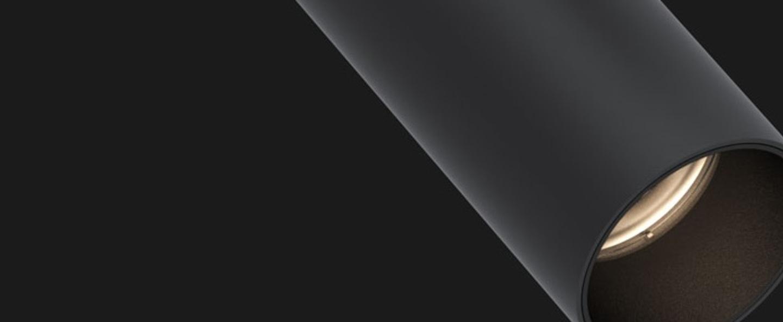 Spot rail tektus 60 3 phase 500ma noir mat led 3000k 1445lm dimmable dali o6cm h15cm doxis normal
