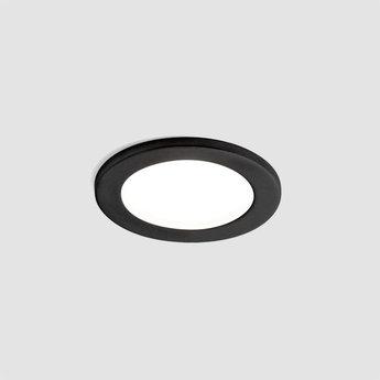 Spot salle de bain luna round ip44 noir led o9 2cm h11 4cm wever ducre normal
