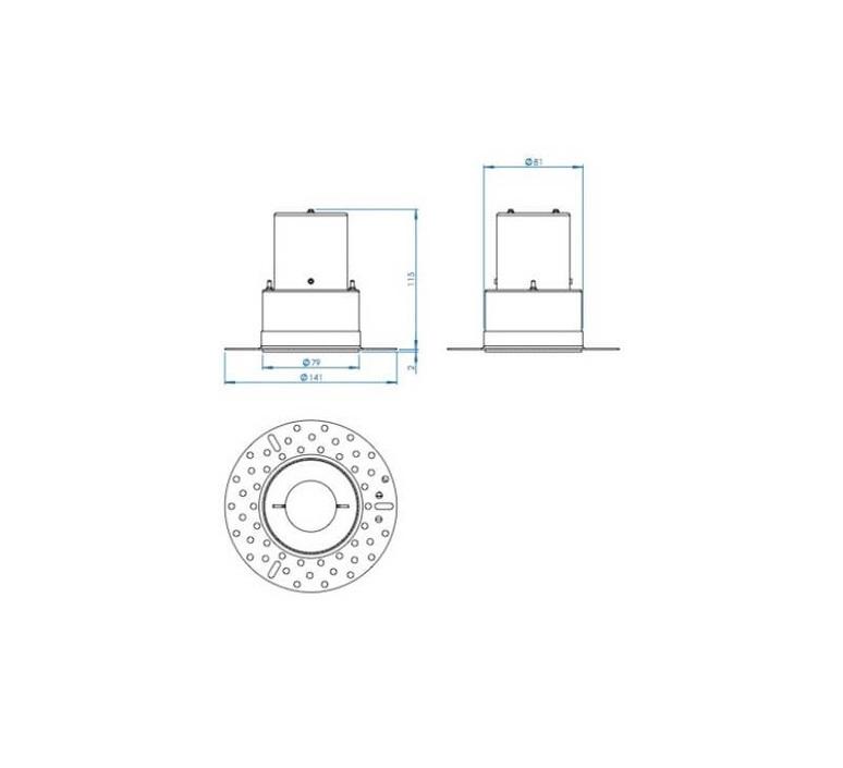 Kos round studio astro spot salle de bain bathroom spot light  astro 1326001  design signed nedgis 105263 product