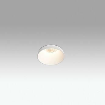 Spot semi ecastre salle de bain aim ip65 blanc o9cm h13cm faro normal