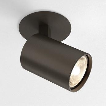 Spot semi encastre ascoli recessed bronze o8cm h12 2cm astro lighting normal