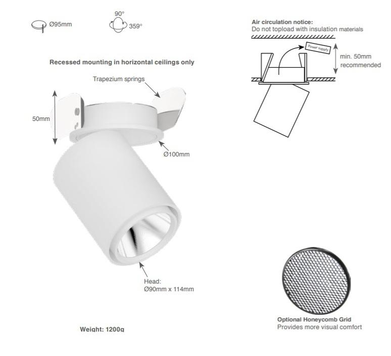Atlas studio doxis spot semi encastre semi recessed light  doxis 1042 22 927 18  design signed nedgis 64924 product
