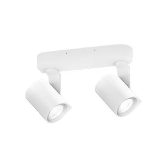 Spot sqube on base 2 blanc ip44 o20 5cm h12 5cm wever et ducre normal