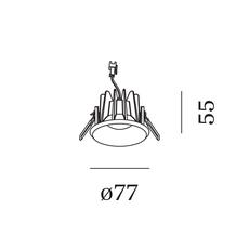 Taio round ip65 1 0 led studio wever ducre spot spot light  wever et ducre 180181w3  design signed nedgis 117854 thumb