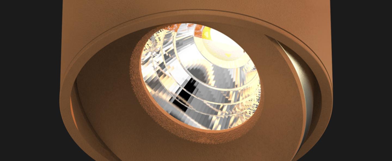 Spot titan semi recessed organic cuivre o8cm doxis normal