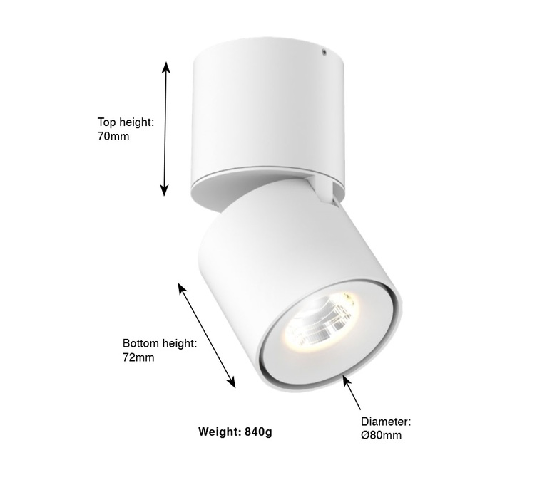 Titan surface mounted studio doxis spot spot light  doxis 1205 90 2700 40 01  design signed 90586 product
