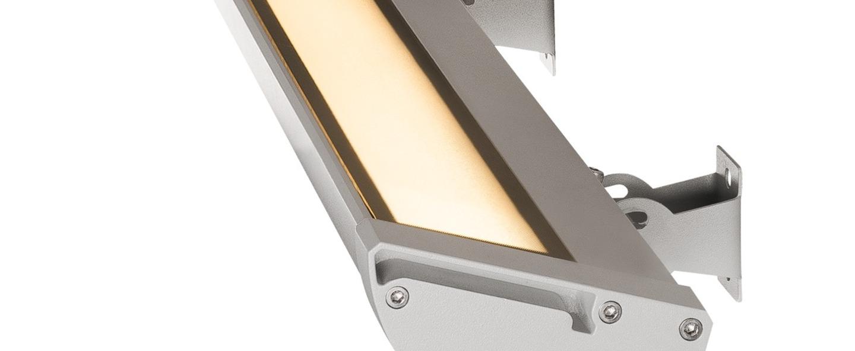 Spot vano wing aluminium ip65 led 3000k 1500lm l63 5cm h6 5cm slv normal