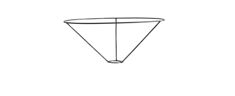 Structure metal pour abat jour basopen large d35 x h15cm tine k home normal