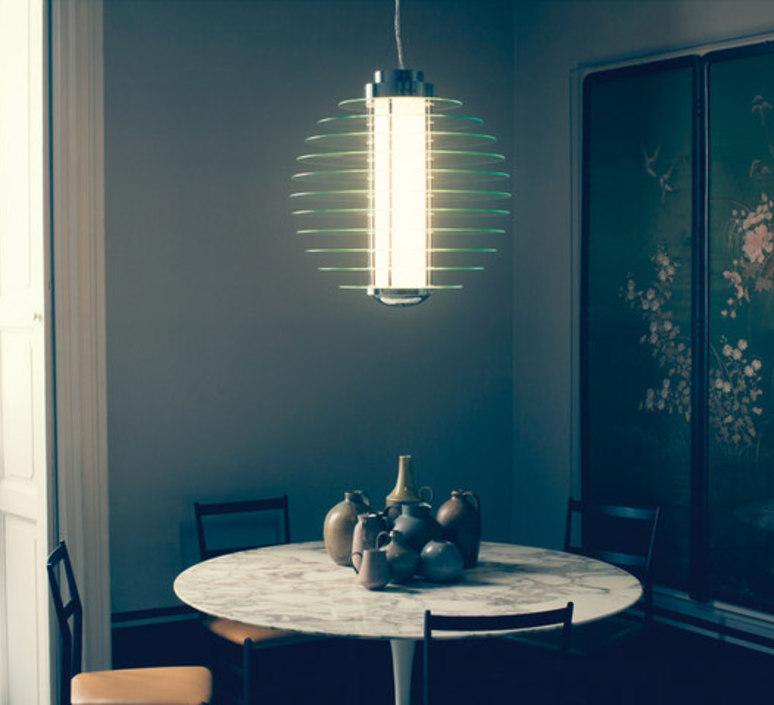 suspension 0024 transparent 53cm fontana arte luminaires nedgis. Black Bedroom Furniture Sets. Home Design Ideas