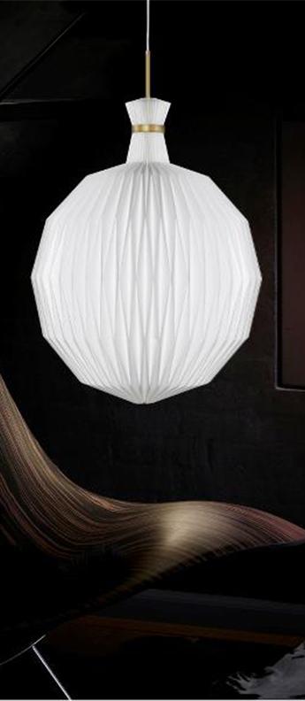 Suspension 101 xl blanc laiton o55cm h70cm le klint normal