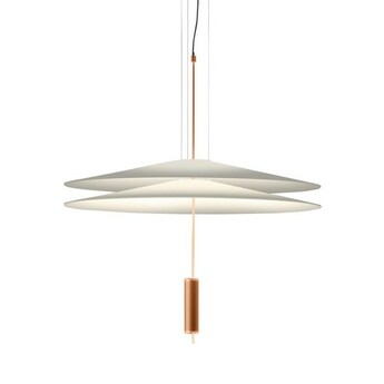 Suspension 1510 cuivre led dimmable 2700k 1389lm o70cm h80cm vibia normal