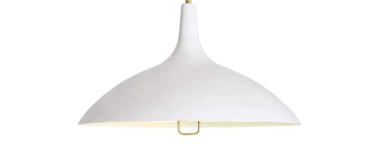 Suspension 1966 blanc laiton o46cm h26cm gubi normal