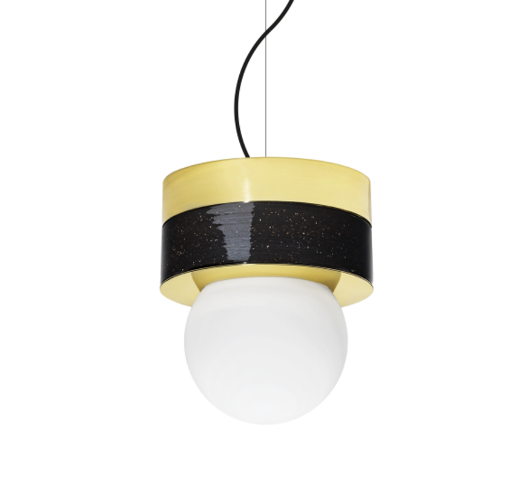 2 01 sophie gelinet et cedric gepner suspension pendant light  haos 2 01 noir  design signed 41723 product