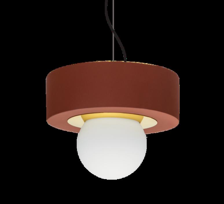 2 02 sophie gelinet et cedric gepner suspension pendant light  haos 2 02 brique  design signed 41788 product
