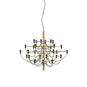 Suspension 2097 30 laiton ampoules depolies o88cm h72cm flos normal