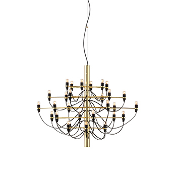 Suspension 2097 30 laiton ampoules transparentes o88cm h72cm flos normal