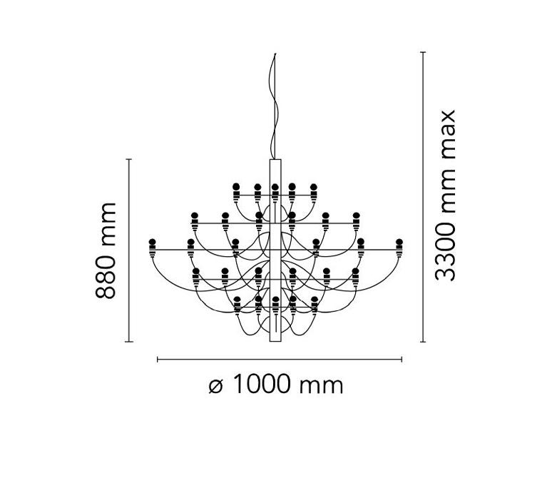 2097 50 gino sarfatti suspension pendant light  flos a1502057  design signed nedgis 107625 product