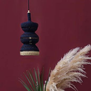 Suspension 3 tier bleu nuit l15cm h31cm golden editions normal