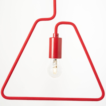 Suspension a shades rouge l36cm h130cm zava normal